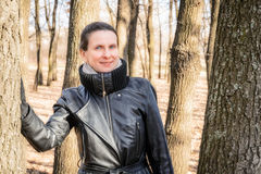 Woman in Forest Royalty Free Stock Photo