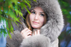 Woman in forest portrait Royalty Free Stock Photo