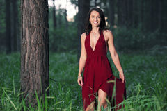 Woman in the forest Royalty Free Stock Photography