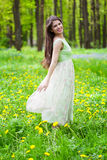 Woman in the forest Royalty Free Stock Photo