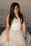 Woman formal dress ice close smile stock photos