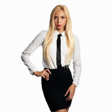 Woman in formal wear and tie Stock Photography