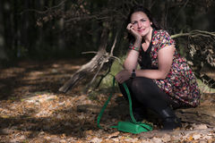 Woman in forrest Royalty Free Stock Photos