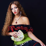 Woman fortune teller read the cards Stock Photos