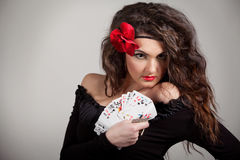 Woman fortuneteller Royalty Free Stock Photos