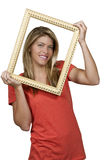 Woman in a Frame Stock Photo