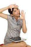 Woman Framing Herself Stock Image