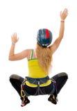 Woman free climbing Royalty Free Stock Photo