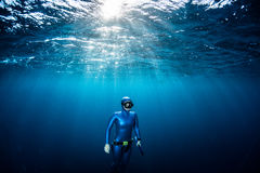 Woman free diver Royalty Free Stock Photo