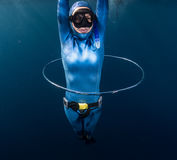 Woman free diver Royalty Free Stock Photos