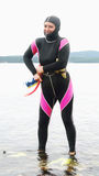 Woman Freediver Royalty Free Stock Photos