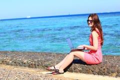 Woman freelancer Royalty Free Stock Photos
