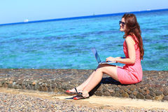 Woman freelancer Stock Photos
