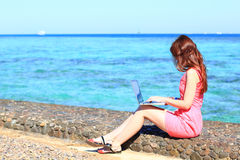 Woman freelancer Royalty Free Stock Images