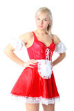 Woman in French Maid outfit Royalty Free Stock Image