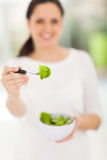 Woman fresh salad Stock Images