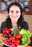 Woman with fresh Vegetables Stock Image