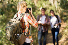 Woman friends mountain Stock Images