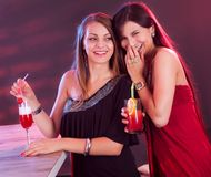 Woman friends partying Stock Image