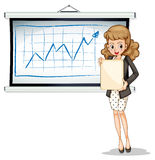 Woman in front of whiteboard Stock Image