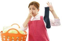 Woman frowning Stock Photos