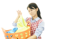 Woman frowning Stock Images