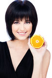 Woman with fruit Royalty Free Stock Photos