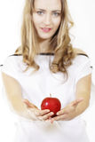Woman and fruit Royalty Free Stock Photo