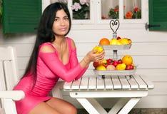 Woman and Fruit Stock Photos