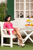 Woman and Fruit Royalty Free Stock Photography