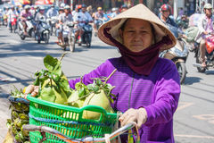 Woman fruit vendor Royalty Free Stock Photo