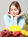 Woman with fruits Stock Image