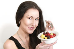 Woman fruits diet Royalty Free Stock Image