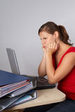 Woman in frustration Stock Image