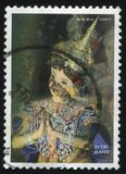 Woman in full attire. RUSSIA KALININGRAD, 3 JUNE 2016: stamp printed by Thailand, shows a woman in full attire, 2007 Stock Photos