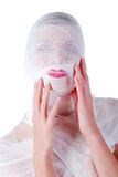 Woman fully in bandage Stock Photos