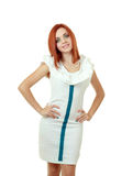 Woman in funky dress Stock Image