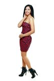 Woman in funky dress Royalty Free Stock Image