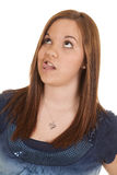 Woman funny expression with tongue Stock Photo