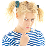 Woman with a funny look on her face Royalty Free Stock Photo