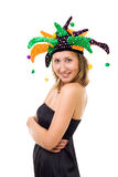 Woman in funny party hat Royalty Free Stock Photography