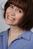 Woman with a funny smile Stock Photography