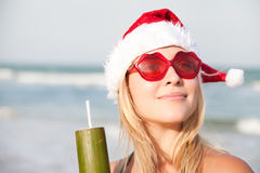 Woman On The Funny Sunglasses Stock Images