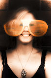 Woman With Funny Sunglasses Stock Photography
