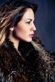Woman in fur Stock Photo