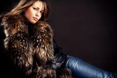 Woman in fur Stock Photo