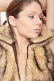 Woman in fur Stock Photos