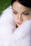 Woman in a fur Royalty Free Stock Photo