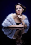 Woman in fur Stock Photography