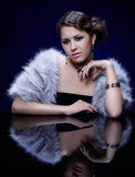 Woman in fur Royalty Free Stock Photos